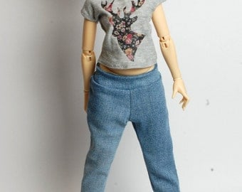 Joggers jeans for MSD Minifee A-line Moe-line doll 1/4 scale