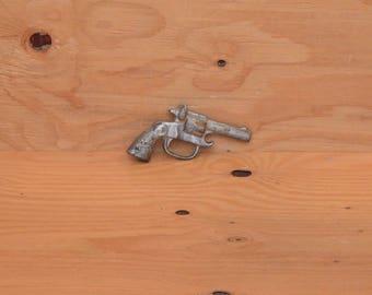Cast Iron Silver Revolver Gun Unique Solid Heavy Bottle Opener