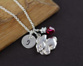 Bunny Necklace , Easter Gift for Her , Bunny Charm, Bunny Pendant, 925 Sterling Silver