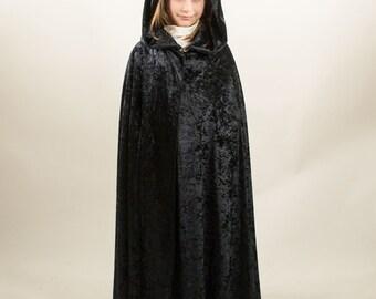 Velvet cloak fantasy medieval renaissance child, kids, chenille velvet, pannè, custom made