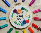 Custom Word Embroidery Hoop // Word of the Year Hoop // Personalized Word Embroidery // Motivational Embroidery Gift // Inspirational Gift