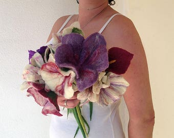 felted flower bouquet -bridal moment- made to order