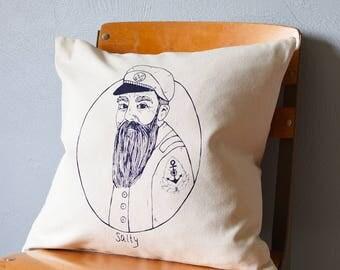 Throw Pillow - Throw Pillow Covers - Screen Printed Pillows - Pillow Case - Home Decor - Kids Room - Decorative Pillows - Nursery - Nautical