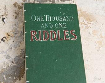 1001 RIDDLES Vintage Notebook Journal