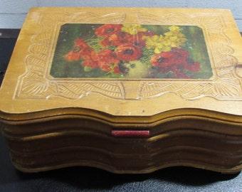 MILESTONE SALE 40% OFF, Old Wood Box, Vintage Wood Jewelry Box, Trinket Box