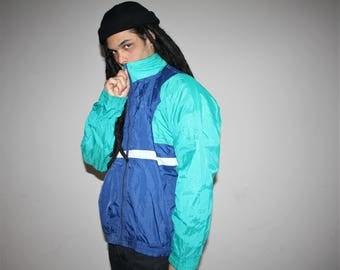 1990s Vintage Puma Colorblock Hip Hop Windbreaker Jacket - 90s Windbreakers - 90s Clothing - MV0050