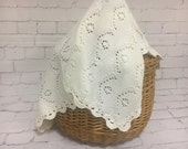 Knit Baby blanket Baby shower gift Baby Lace blanket Baptism accessory Gift for New Baby Knit Lace Baby blanket Snow white Baptism accessory