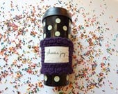 Purple choose joy coffee sleeve, sister in law gift, coffee lovers gift for her, best friend gift, Bible journaling, Christian gift for girl
