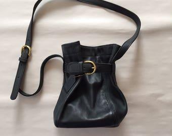 midnight blue coach drawstring bag | leather coach bag