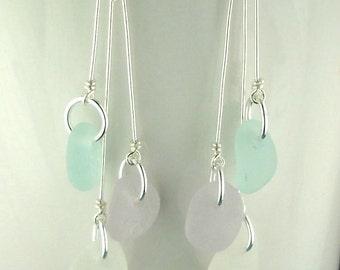 Beach Earrings, Beach Glass Earrings, Ocean Earrings GENUINE Sea Glass Jewelry Eco-Friendly Jewelry, EcoFriendly Earrings, Seaglass Earrings