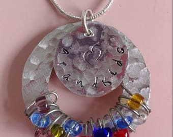 Grandchild/Child Necklaces and Keychains (w/Birthstone Beads)