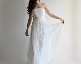 Wedding corset, wedding separates top, bridal corset, wedding bustier, boho wedding top, alternative wedding dress, strapless wedding top