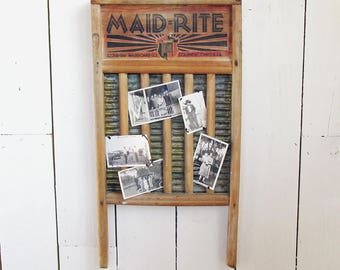 Vintage Maid-Rite Washboard, Farmhouse Chic, Laundry Room Decor