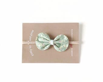Baby Bows, Liberty of London Felt Bow in the color Prairie, Liberty of London, giddyupandgrow