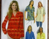 Easy to Sew Misses Pullover Top with Narrow Hem and Sleeve Variations Sizes 8 10 12 14 16 Butterick Pattern B5826 UNCUT