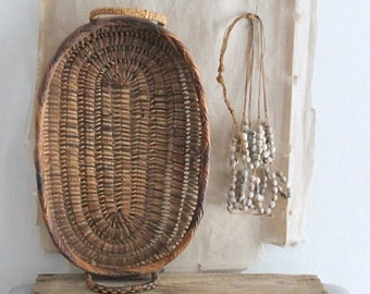 Vintage Small Woven Tray