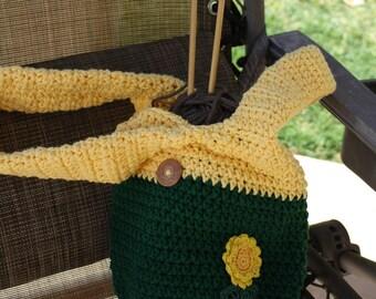 Japanese Knot bag sunflower