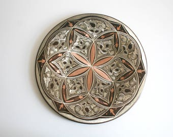 Copper Etched Erzincan Wall Plate