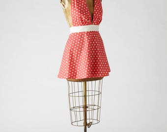 Womens Retro Marilyn Apron in Cat Print