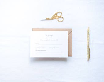 ADD ON: RSVP Cards & Envelopes | Isabelle Wedding Stationery Collection | Customisable Wedding Invites