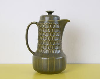 Vintage Coffee Pot, Wedgwood Green Coffee Pot, Retro Green Ceramic Coffee Pot, Vintage Teapot, Cambrian Coffee Pot