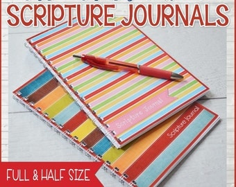 Scripture Journal, Notes, Notebook - Printable Instant Download
