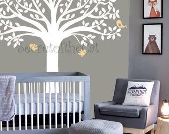Wall Decals Nursery. Nursery Wall Decal. Tree decal. Baby tree decal - Big tree - Nursery decal