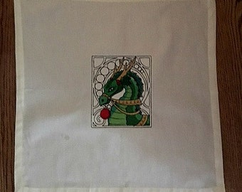 Yule Dragon Tarot Cloth