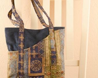 Blue Italian Quilt Tote