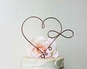 INFINITY HEART Wedding Cake Topper, Infinity Wedding Cake Topper, Bridal Shower Cake Decoration, Anniversary Cake Topper, Wedding Decoration