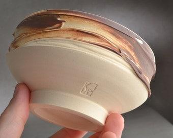 Bacon Shaving Bowl Ready To Ship Clear Black Chawan Dottie Shaving Bowl by Symmetrical Pottery