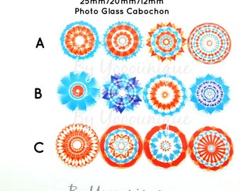 NEW- Collection 12mm 20mm 25mm Kaleidoscope Handmade Photo Cabochon CPC880-M25/20/12[346]