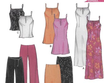 New Look 6082 Women's Coordinates, Dress, Tunic, Top, Skirt, and Pants Sewing Pattern Size 10 to 22 Bust 32 1/2 to 44