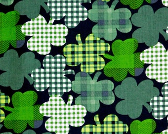 Saint Patrick's day fabric,  Shamrock fabric 100% cotton for Quilting and general sewing projects.