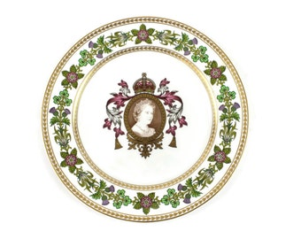 Queen Elizabeth II Plate - Royal Plate, 80th Birthday Plate, Commemorative Plate, Spode England, Limited Edition, c1980