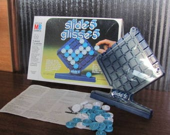 """Vintage 80's """"Slide 5"""" - Milton Bradley - Game Night - Family Games - ages 7 to adult - 80's Board Game"""