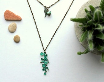 Greenery necklace flowers