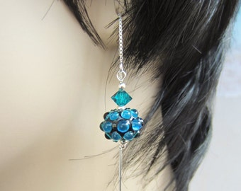 Sterling Silver Threaders-Torchwork Beads-Glowing Blue