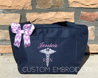 Personalized Or Monogrammed Nurse Doctor Super Tote 26 Bag