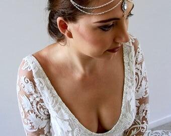 Bridal Headpiece Wedding Headpiece Head Chain Bridal Head Chain Head Jewelry Chain Headpieces Head Piece Chain Headpiece Boho Headpiece Veni