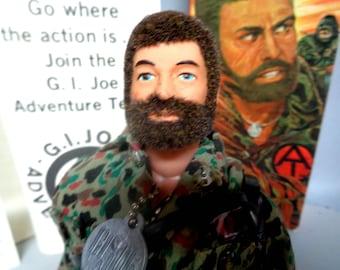 G I JOE,Land Adventurer,#7401,Adventure Team,A Real American Hero,Vintage,1970, MINT in VG++ Box,Stunning & Beautiful Toy,Bearded Hair
