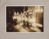 Girls' Basketball- 1920s Antique Photograph- School Girls- 1925 Class Portrait- Roaring 20s- Found Photo- Vernacular- Paper Ephemera
