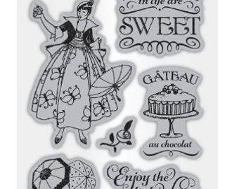 Cafe Parisian 1 - Cling Mounted Rubber Stamp Set from Graphic 45