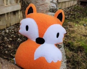 Soft Fox Toy Plush, Fleece Animal Doll, Quiet Plush Fox Toys for Kids, Stuffed Fox