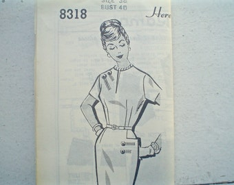 Vintage Patt-O-Rama Dress Pattern with Perky Pocket 1950s- 1960s Bust 40