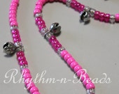 Rhythm Beads Necklace -PRETTY IN PINK, Trail Beads for Horses,Horse Necklace, Speed Beads, Natural Horsemanship,Horse Lovers, Horse Bells