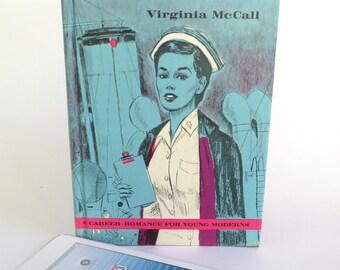 Navy Nurse Vintage Book iPad Mini Book Case, Purple Denim  Lining, Fits Kindle Fire HD7, Nexus 7, Nook Color, Galaxy Tab, LG Pad 8