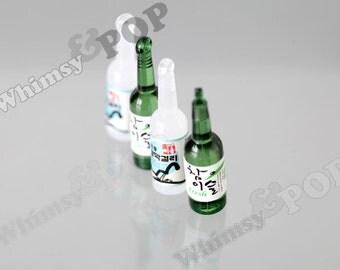 1 - Acrylic Korean Liquor Soju Style Pendant Charm, Liquor Charm, Drink Charm, Drink Pendant, 40mm x 10mm (R8-049)