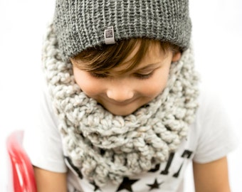 Grey knit hat, Kids Winter Beanie,  kids Knit beanie, kids winter hat, hat, kids Knit hat, kids knit beanie, kids skull cap(The Kids Beanie)