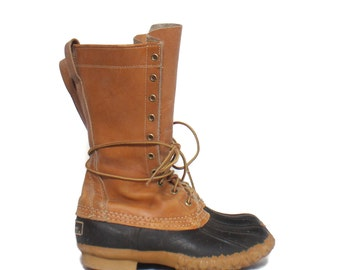 5  Boys | 7 Ladies | LL Bean Maine Hunting Shoe Leather and Rubber LL Bean Duck Boots